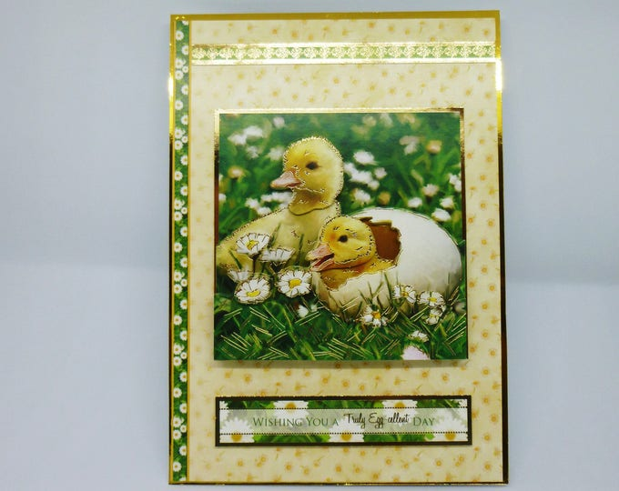 Ducklings Hatching, Fluffy Ducklings, 3 D Decoupage, Handmade Card, Birthday Card, Flowers, Daisy's, Special Day, Especially For You