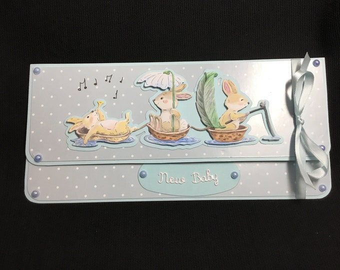 Money Gift Card/ Voucher Envelope, New Baby, New Arrival, Gift Card, Voucher Gift Wallet, Handmade In The UK, Special Gift