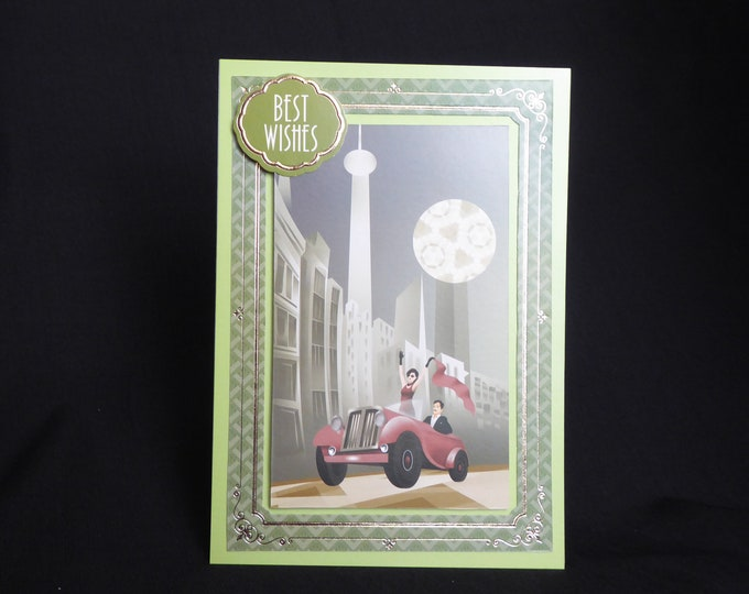Art Deco Card, Best Wishes, 1920's Style Birthday Card, Special Day Card, Special Birthday, Especially For You, Any Occasion Card