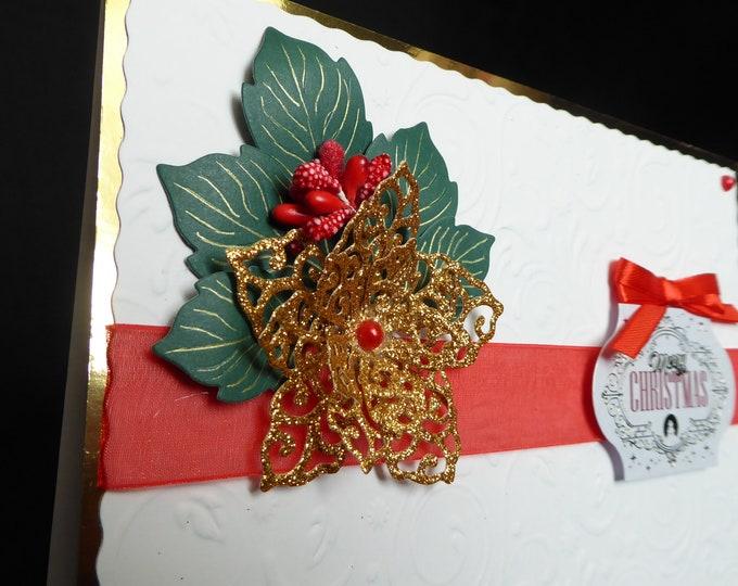 Poinsettia Card, Merry Christmas, Festive Greetings, Seasonal Greetings, Christmas Greetings, Celebration Time, Christmas Celebrations