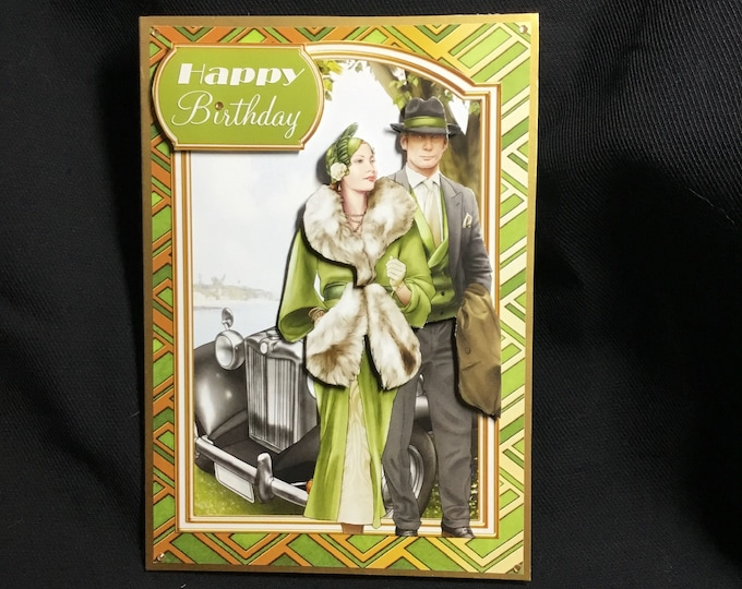 Art Deco Card, 3D Decoupage Card, Especially For You, Special Birthday, Special Day Card, Birthday Wishes, Handmade In The UK