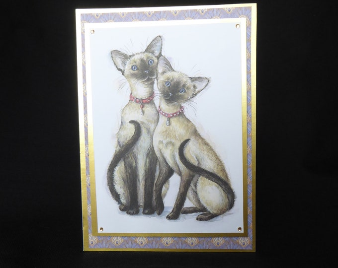 Cat Card, Siamese Cats, Especially For You, Special Birthday, Special Day, Celebrate Your Day, Any Occasion, Handmade In The UK