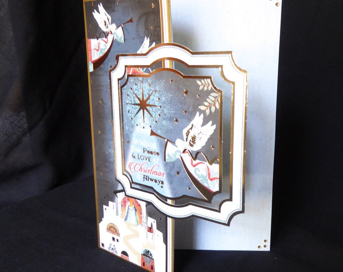 Traditional Angel Christmas Card, Seasonal Greetings, Festive Fun, Merry Christmas, Celebrate Christmas, Handmade In The UK