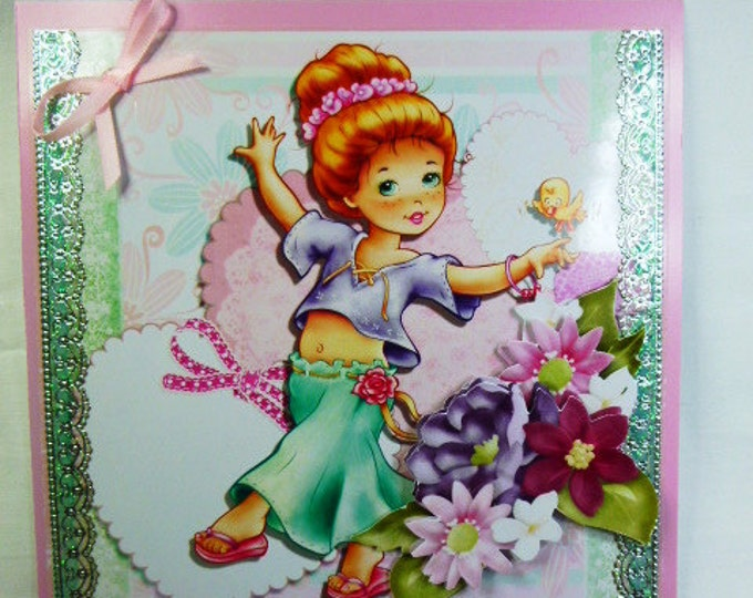3D Decoupage, Birthday Card, Any Occasion, Especially For You, Special Birthday, Girl Dancing, Special Day, Special Greetings