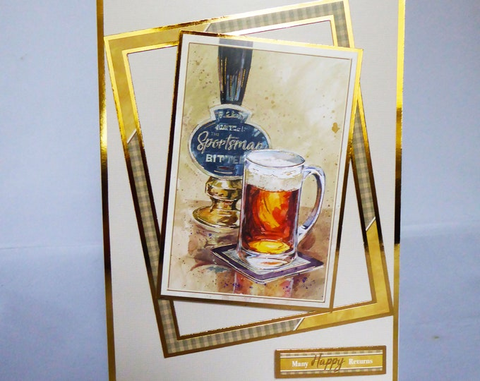Pint Of Bitter, Birthday Greeting Card, Many Happy Returns, Special Birthday, Especially For You, Handmade In The UK, Personalised,