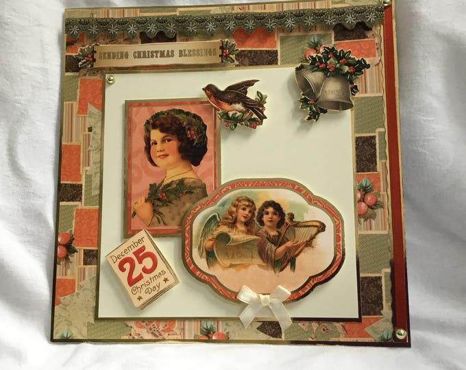 Vintage Christmas Card, Traditional Christmas Card, Festive Card,  Vintage Style Card, Celebrate Christmas, Seasonal Greetings