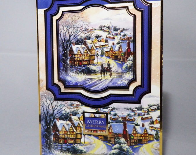 Traditional Christmas Card, Village Scene, Seasonal Greetings, Merry Christmas, Festive Season, Celebrate In Style, Celebration Time