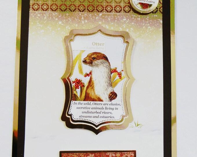 Otter Christmas Card, Nature Christmas Card, Christmas Greeting Card, Festive Card, Seasonal Greetings, Festive Celebrations, Handmade
