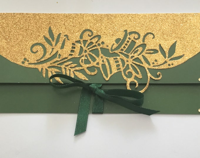 A Money / Gift Wallet Card, Christmas Gift Wallet, Festive Gift Wallet, Christmas Gift Card, Voucher Wallet, Handmade In The UK