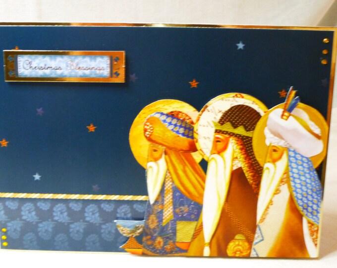 Three Kings, Traditional Card, Christmas Greeting Card, Festive Card, Seasonal Greetings, Christmas Blessings, Celebrate Christmas