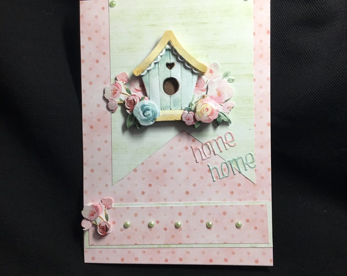 New Home Card, Moving House, 3D Decoupage Card, Especially For You, Special Day Card, Congratulations, Handmade In The UK, Personalised