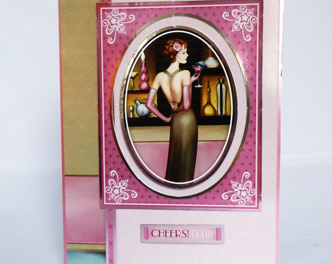 Art Deco Card, Cocktails, Birthday Wishes, Birthday Greetings, Cheers To You, Especially For You, Special Birthday, Special Day