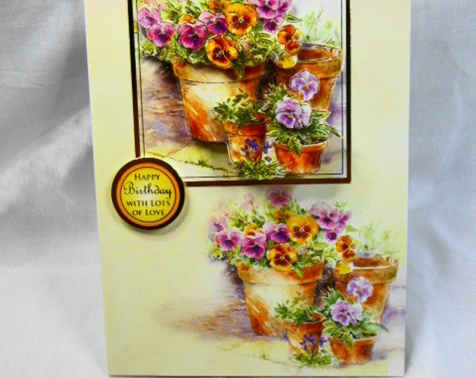 Spring Flowers Birthday Card, Greeting Card, 3D Decoupage, Special Birthday, Especially For You, Special Day, Handmade In The Uk