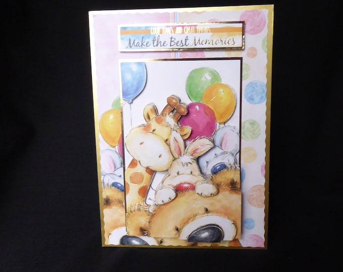Animal Birthday Card, 3D Decoupage Card, Especially For You, Birthday Greetings, Special Birthday, Special Day, Handmade In The UK