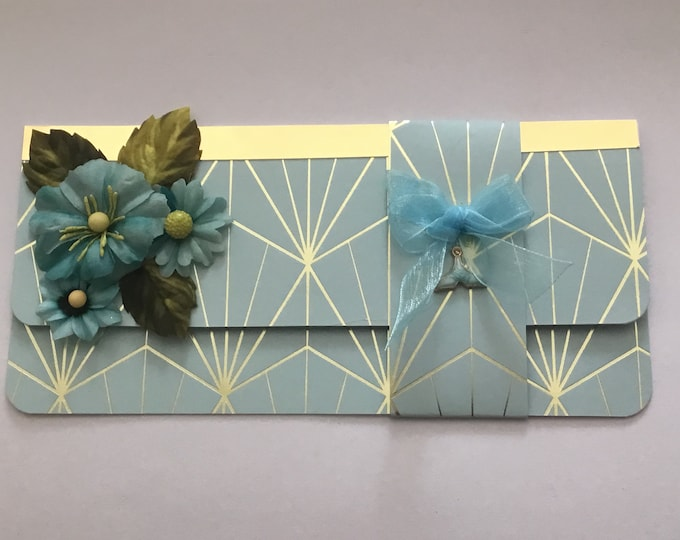 A Money / Gift Wallet Card, Birthday Gift Wallet, Anniversary Gift Wallet, Wedding Gift Wallet, Voucher Wallet, Handmade In The UK