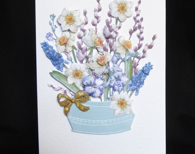 Floral Decoupage Card, Mother's Day Card,Any Occasion Card, Birthday Card, Special Day Card, Especially For You,