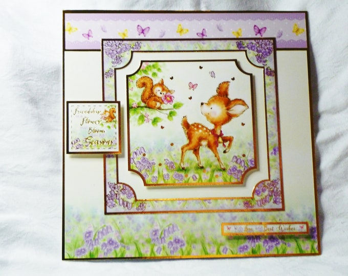 A Deer and Squirrel, Birthday Card, Greeting Card, Special Birthday, Special Day, Birthday Wishes, Especially For You, Happy Birthday
