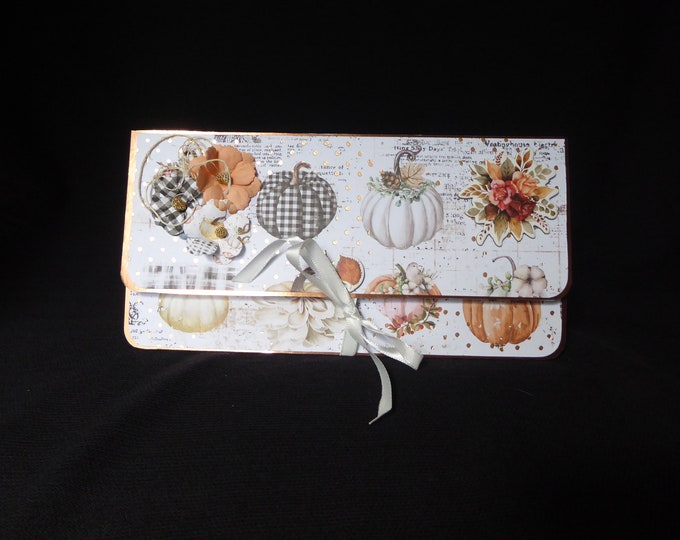 A Money / Gift Wallet Card,  Birthday Gift Wallet, Special Day Card, Just For You, Pumpkins, Especially For You, Handmade In The UK