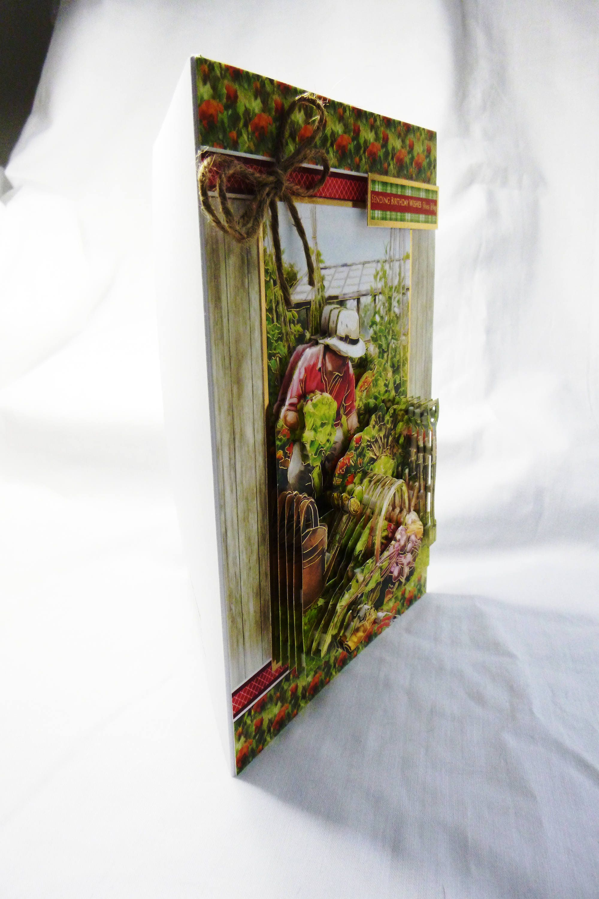Gardeners Dream 3D Decoupage Card Fathers Day Birthday