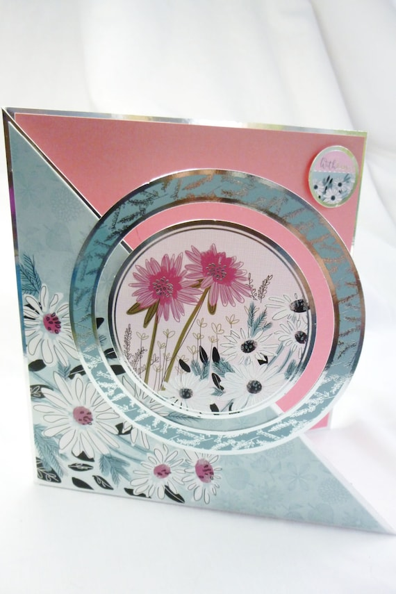 Pink And White Floral Birthday Card Greeting Flowers