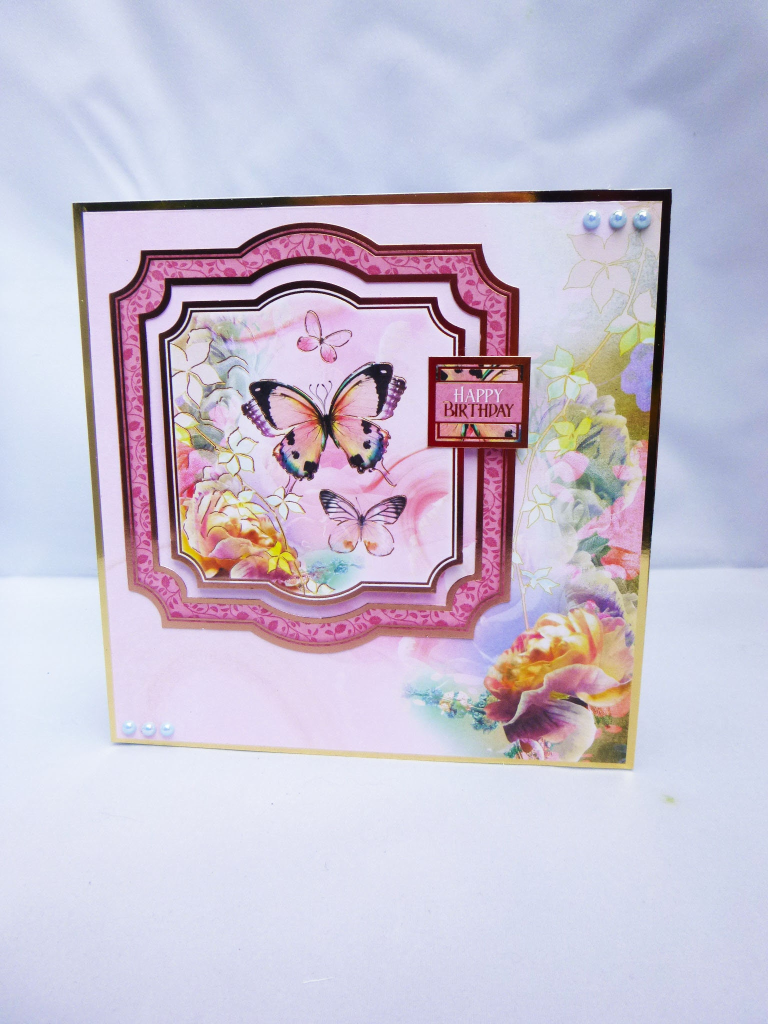 Floral Butterfly Card Happy Birthday Card Special Day Card