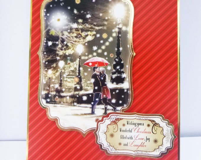 Traditional Christmas Card, For A Couple, Winter City Scene, Festive Wishes, Seasonal Greetings, Celebrate Christmas, Handmade In The UK