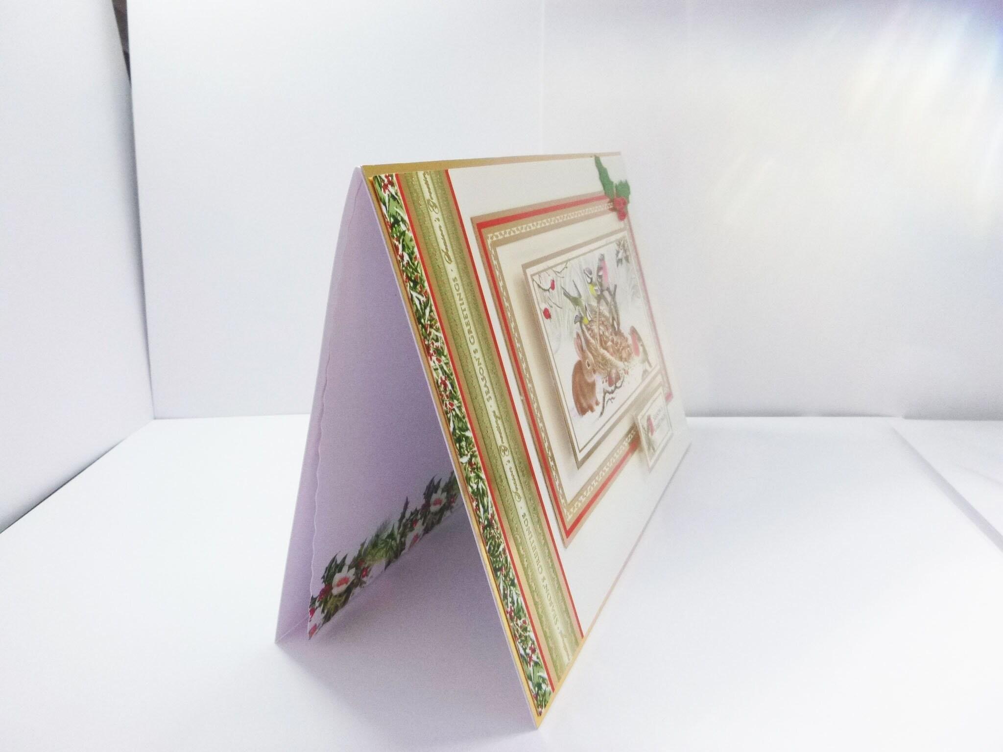 Animal Christmas Card, Traditional Christmas Card, Seasons Greetings ...