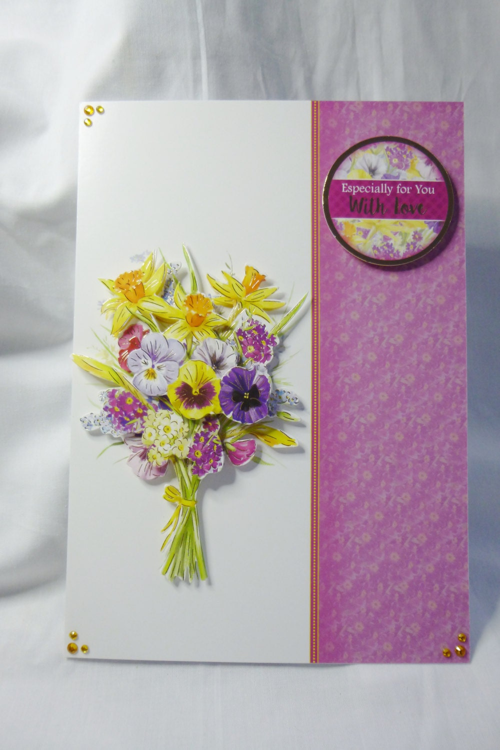 Floral spring flowers birthday card greeting card 3d decoupage floral spring flowers birthday card greeting card 3d decoupage female any age mother daughter sister niece aunt friend izmirmasajfo