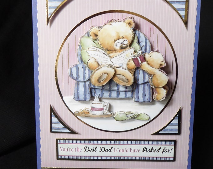 3D Decoupage Card, Dads Birthday, Especially For You, Special Birthday, Special Day, Celebrate Your Day, Handmade In The UK