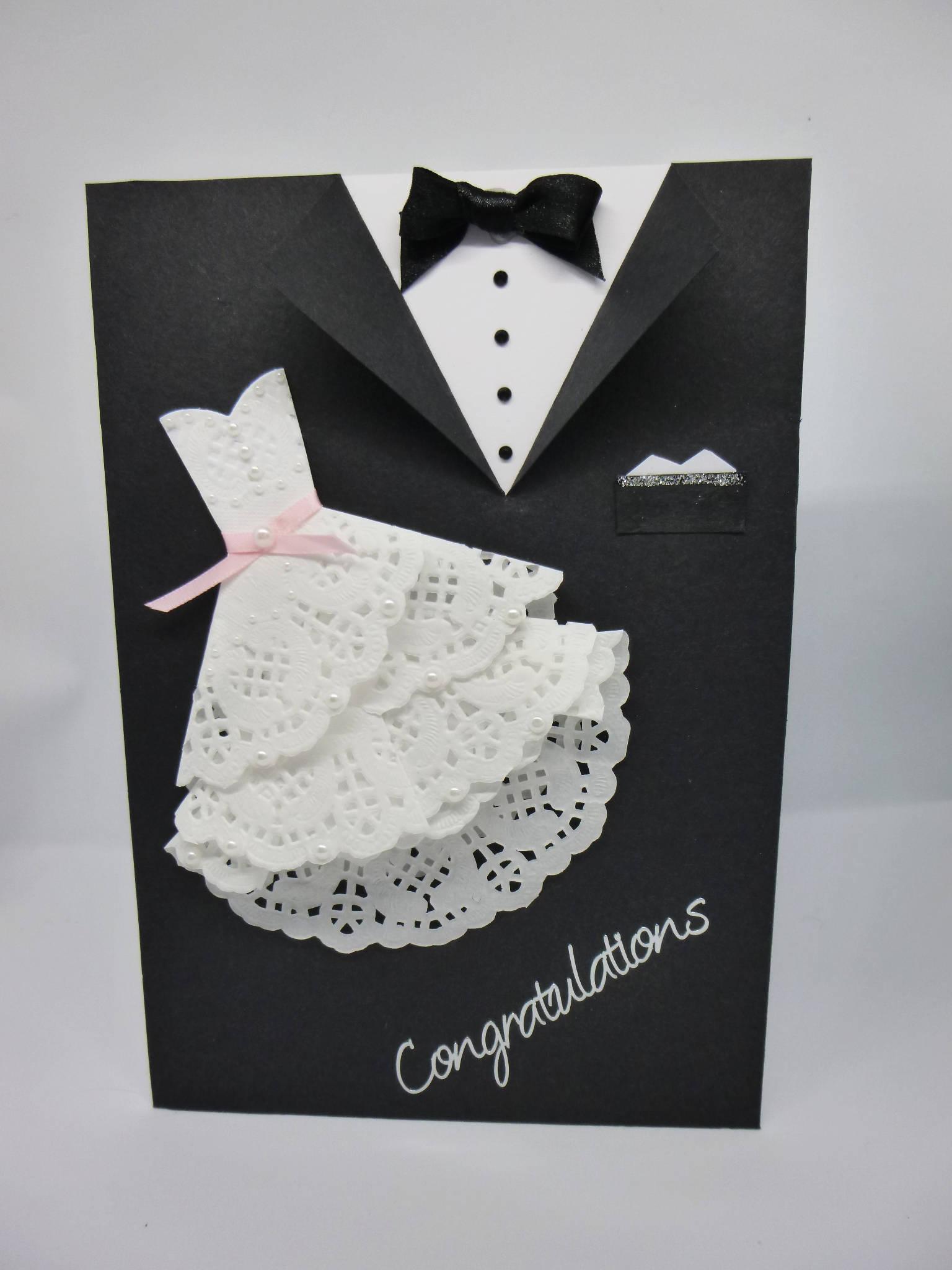 Handmade Wedding Cards Dress