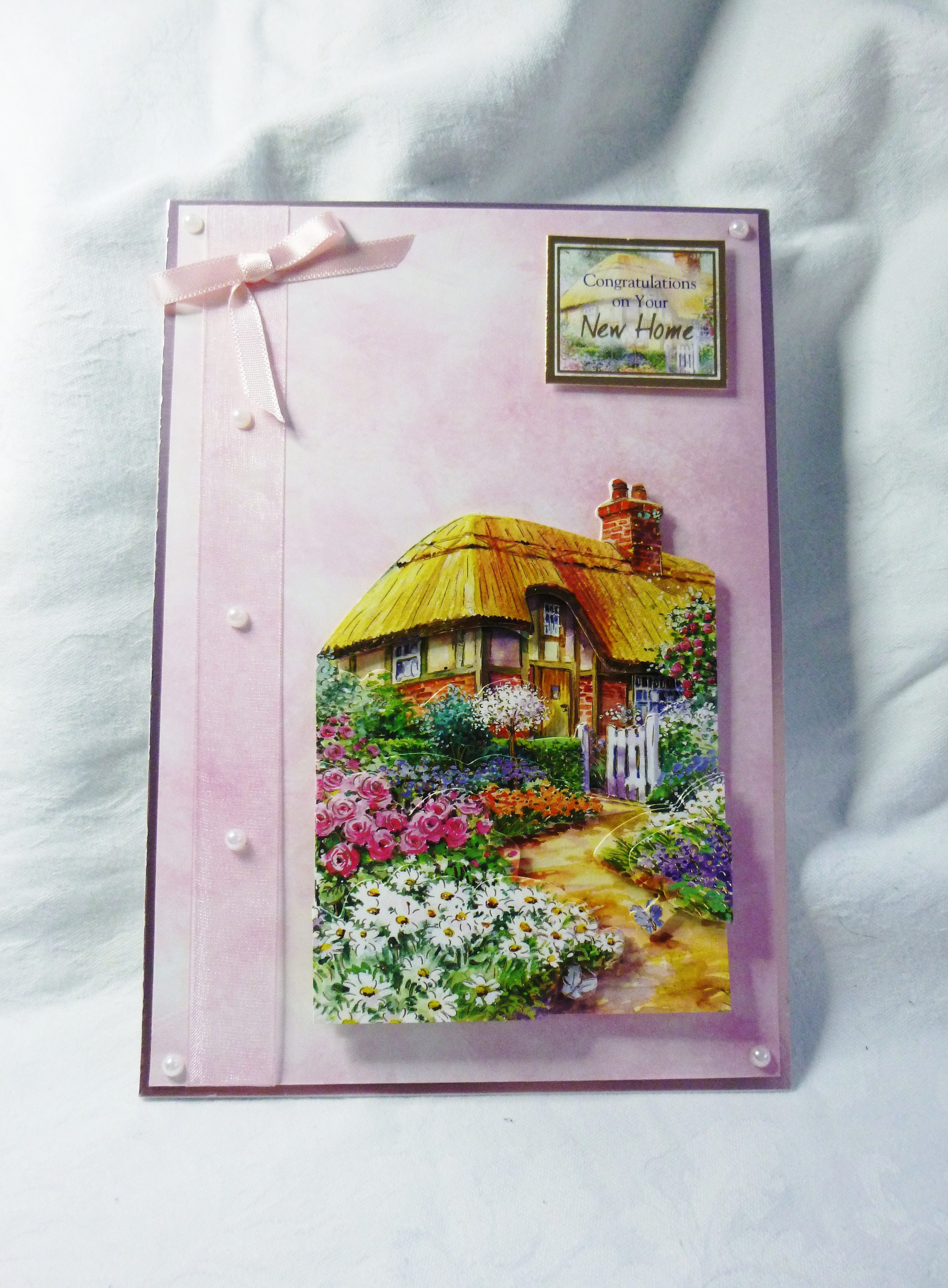 Country Cottage New Home Card Congratulations Card Greeting Card