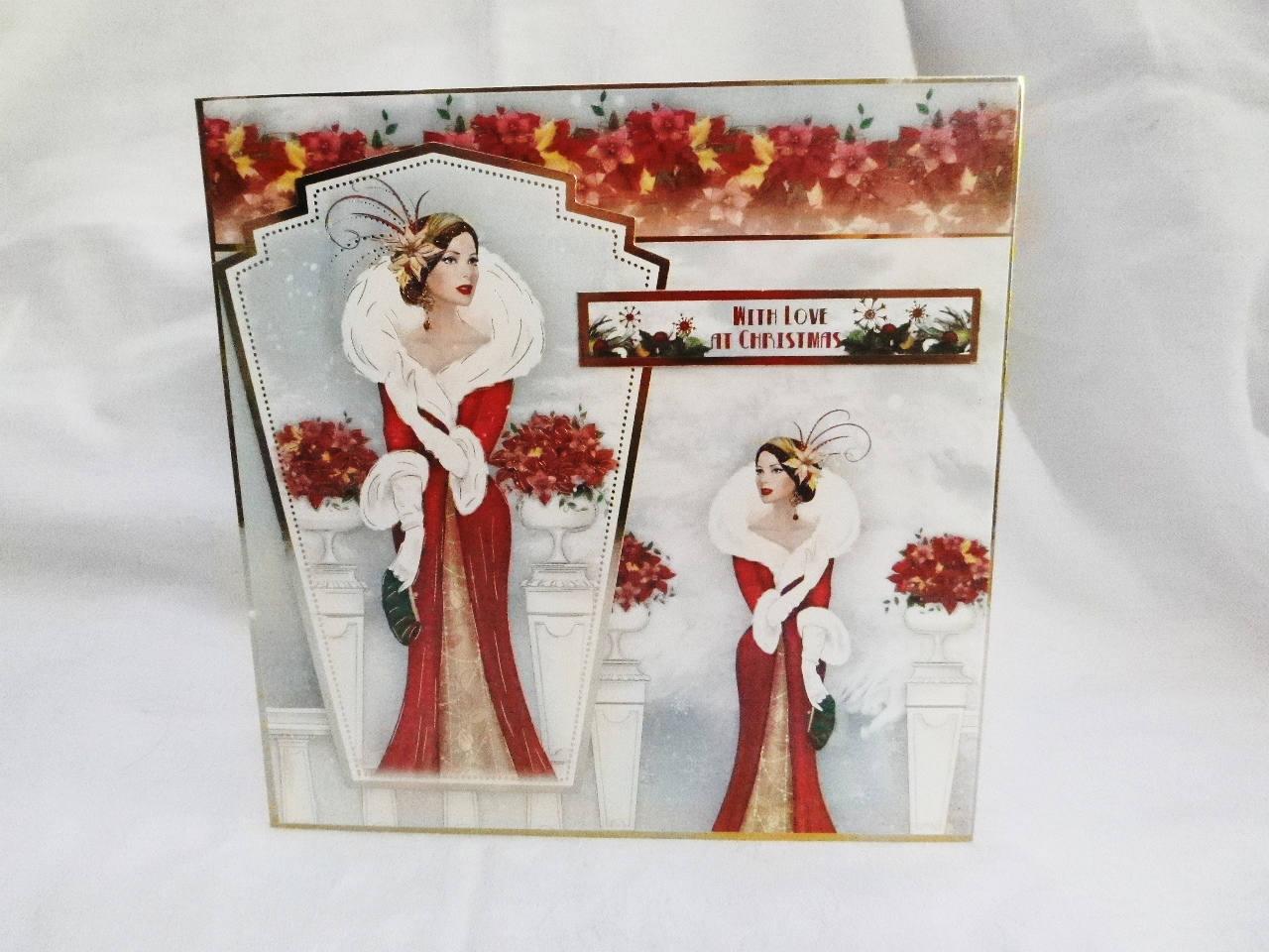 Art Deco Christmas Card, Greeting Card, Elegant Lady, Any Age ...