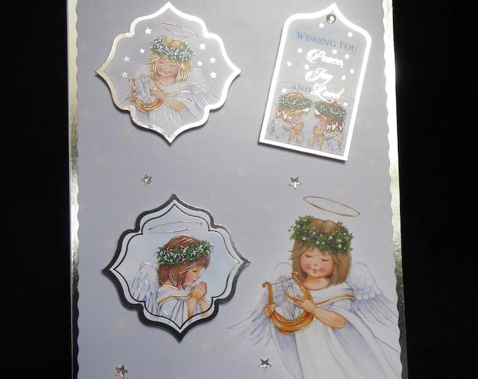 Angel Christmas Card, Festive Card, Seasonal Greetings, Merry Christmas, Peace And Joy, Celebration Time, Festive Greeting, Handmades