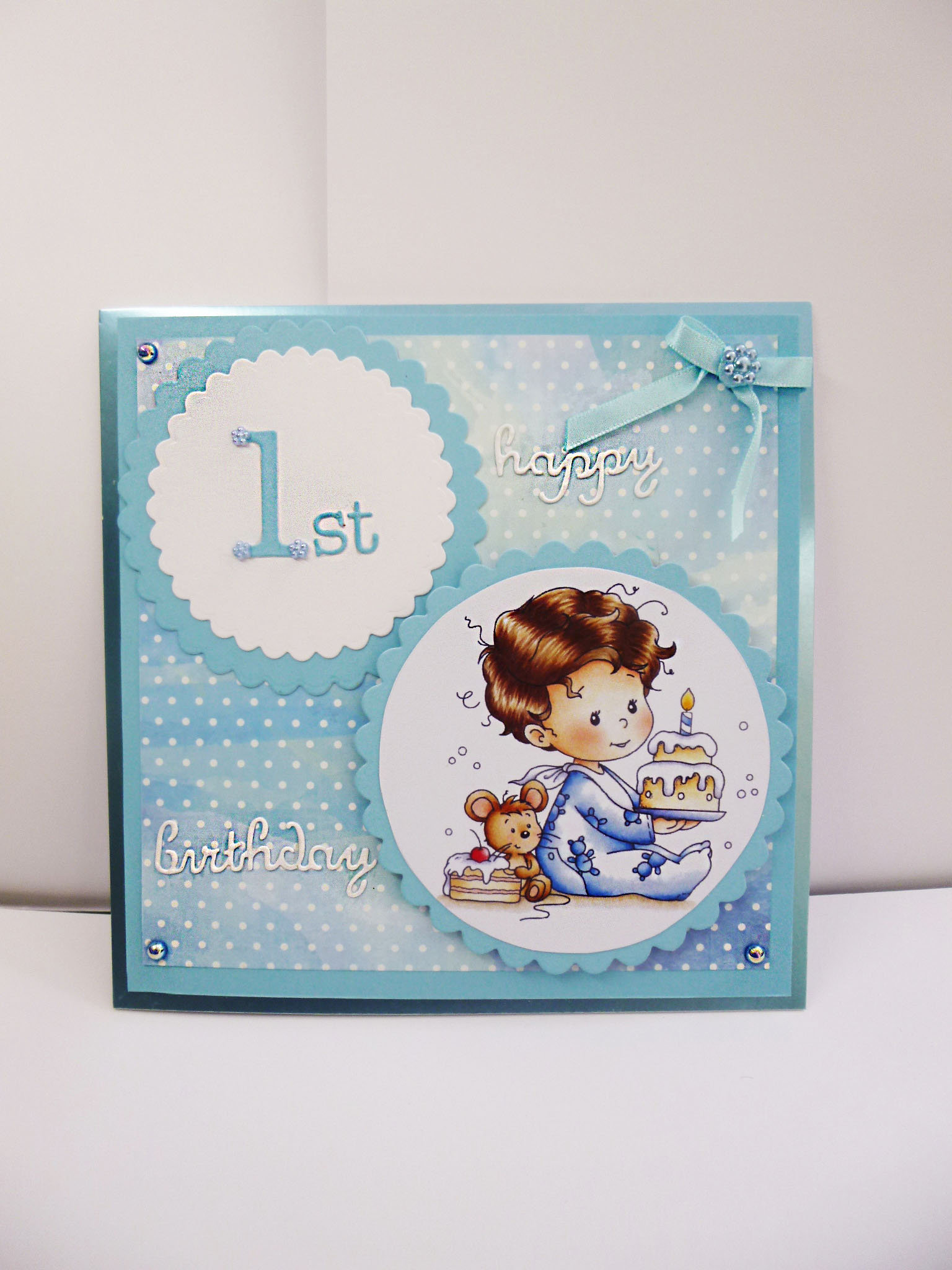 Boys 1st Birthday Happy Card Baby Boy Gallery Photo