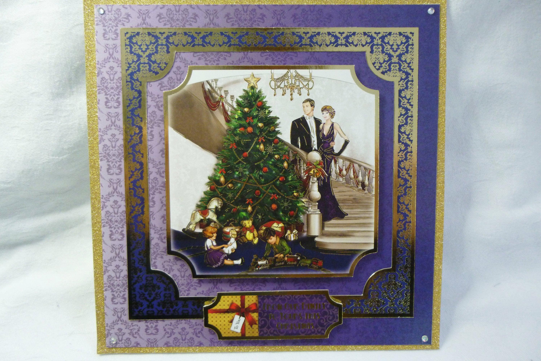 Art Deco Christmas Card, Family Christmas Card, Traditional Greeting ...
