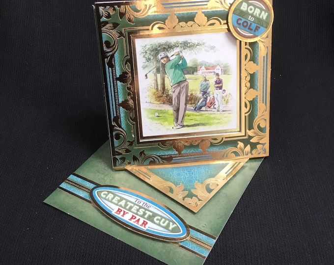 Golf Card, Twisted Easel Card, Especially For You, Special Day Card, Concept Card, Handmade In The UK,