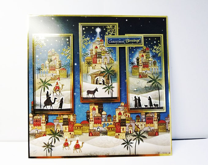 Three Kings Christmas Card, Nativity Card, Christmas Blessings, Festive Card, Festive Greetings, Festive Celebrations, Handmade In The UK