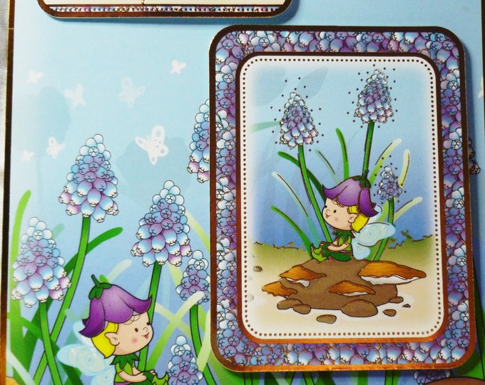 Special Boy Card, Pixie Birthday Card, Greeting Card, Handmade Card, Baby Boy, Pixie, Fairy, Add  Number, Personalised