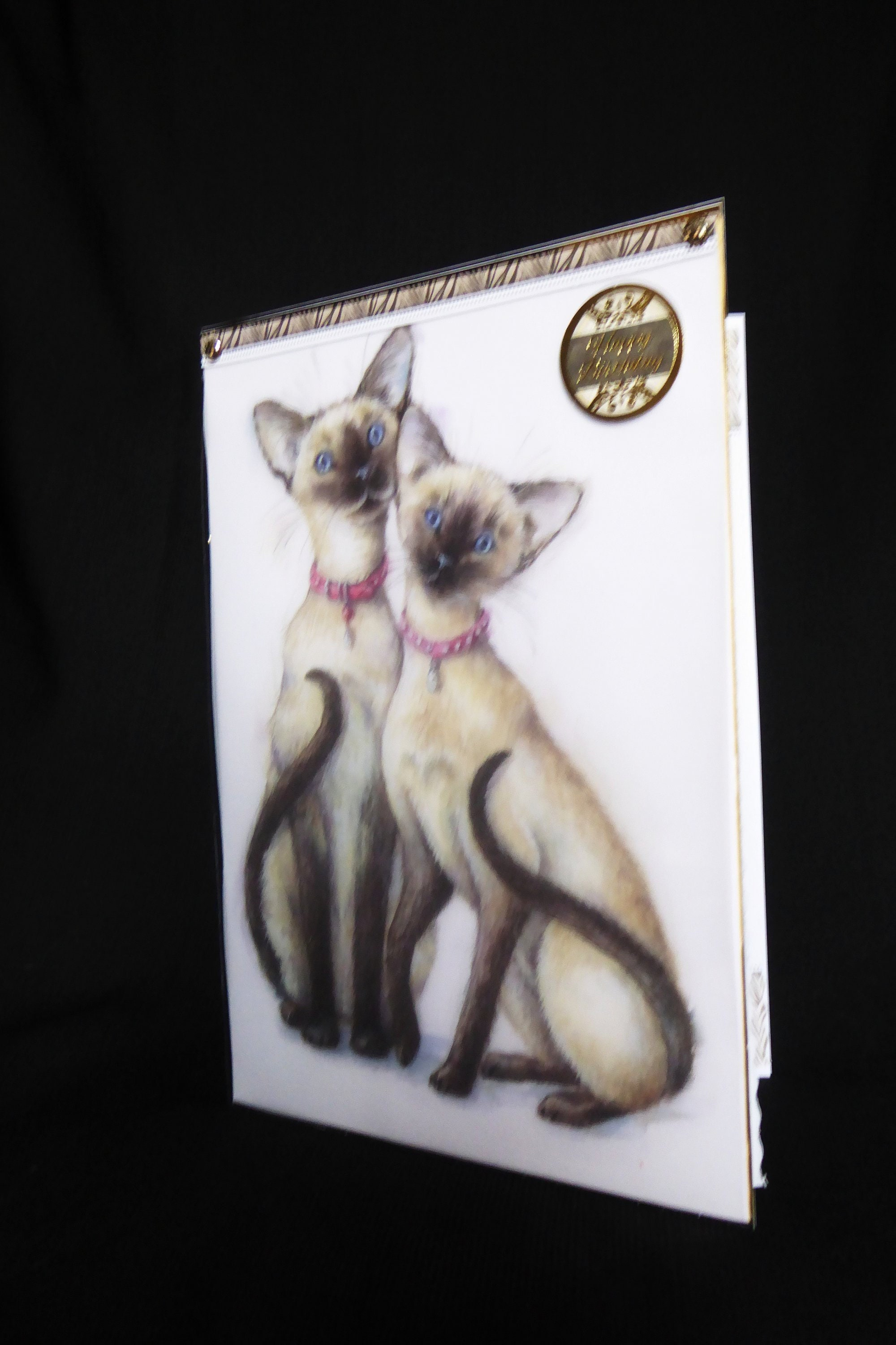 Siamese Cats Animal Card Cat Lover Birthday Wishes Happy