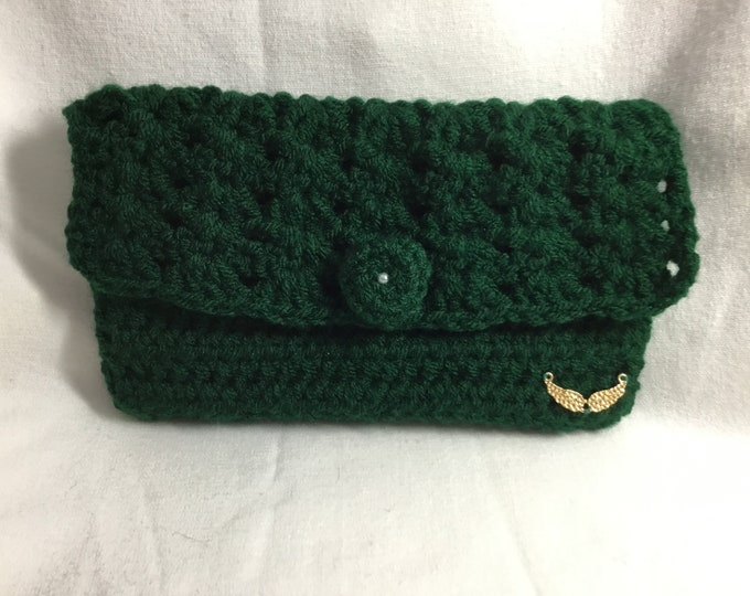 Handmade Crocheted Clutch Bag, Crocheted Clutch Bag, Handmade Bag, Special Gift, Birthday Gift, Special Occasion Gift