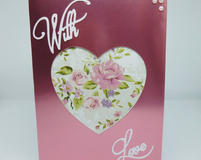 Wedding Card, Anniversary Card, Greeting Card, With Love Card, Romance Card, Love Card, Personalise the Card, Any Age,