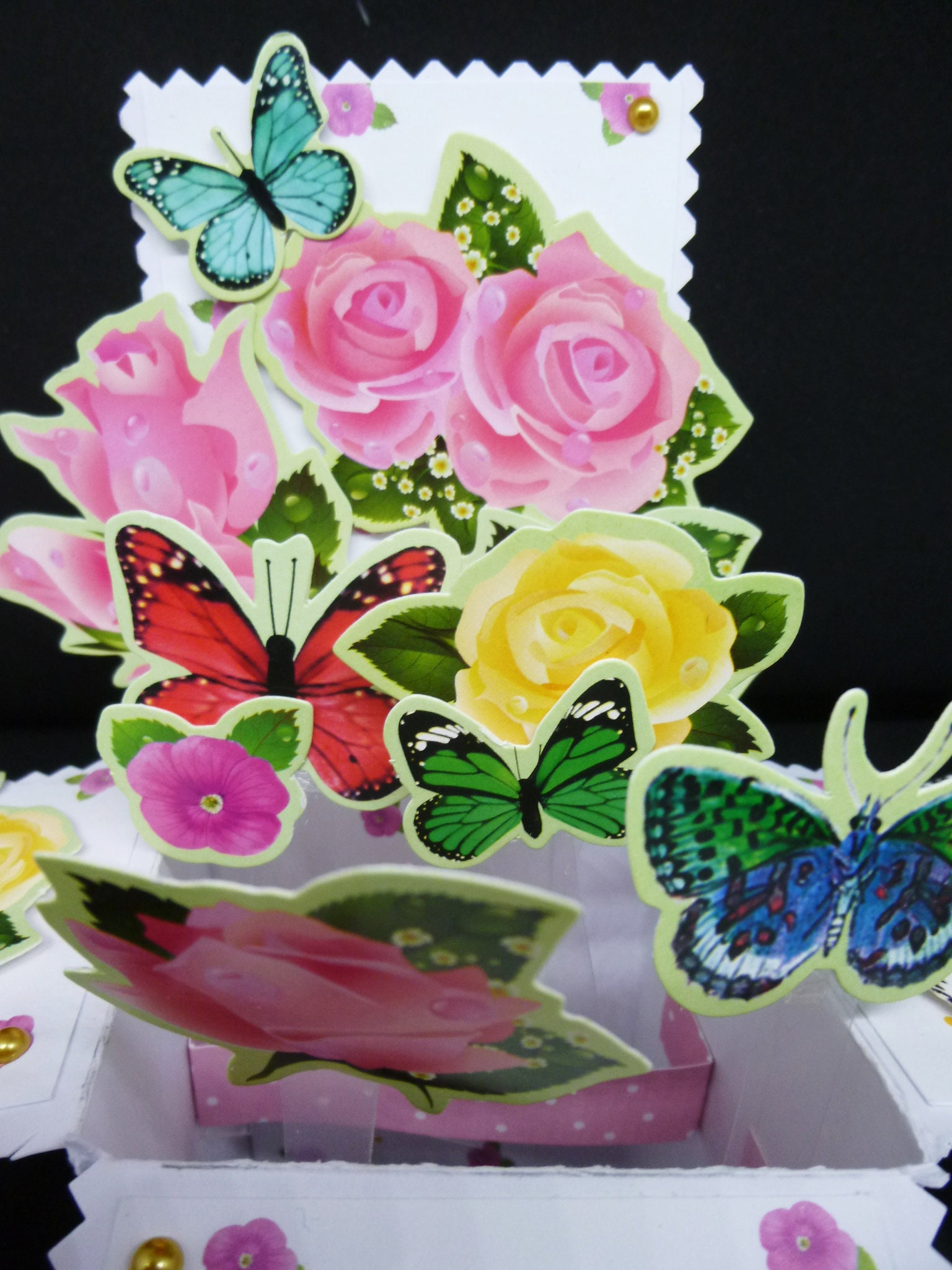 3 d pop up card floral card flowers and butterflies birthday card gallery photo gallery photo izmirmasajfo