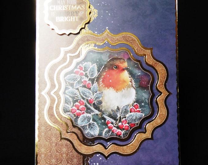 Traditional Robin Christmas Card, Bird Card, Seasonal Greetings, Festive Fun, Merry Christmas, Festive Fun, Seasons Greetings, Handmade