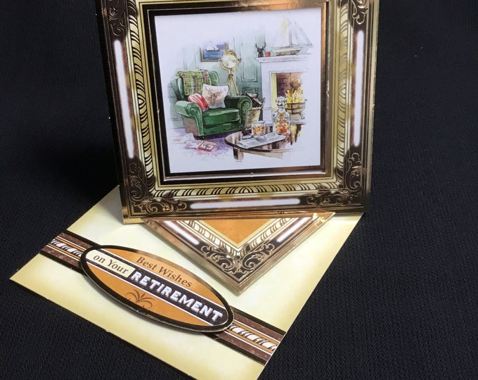 Retirement Card, Twisted Easel Card, Especially For You, Special Day Card, Concept Card, Handmade In The UK,