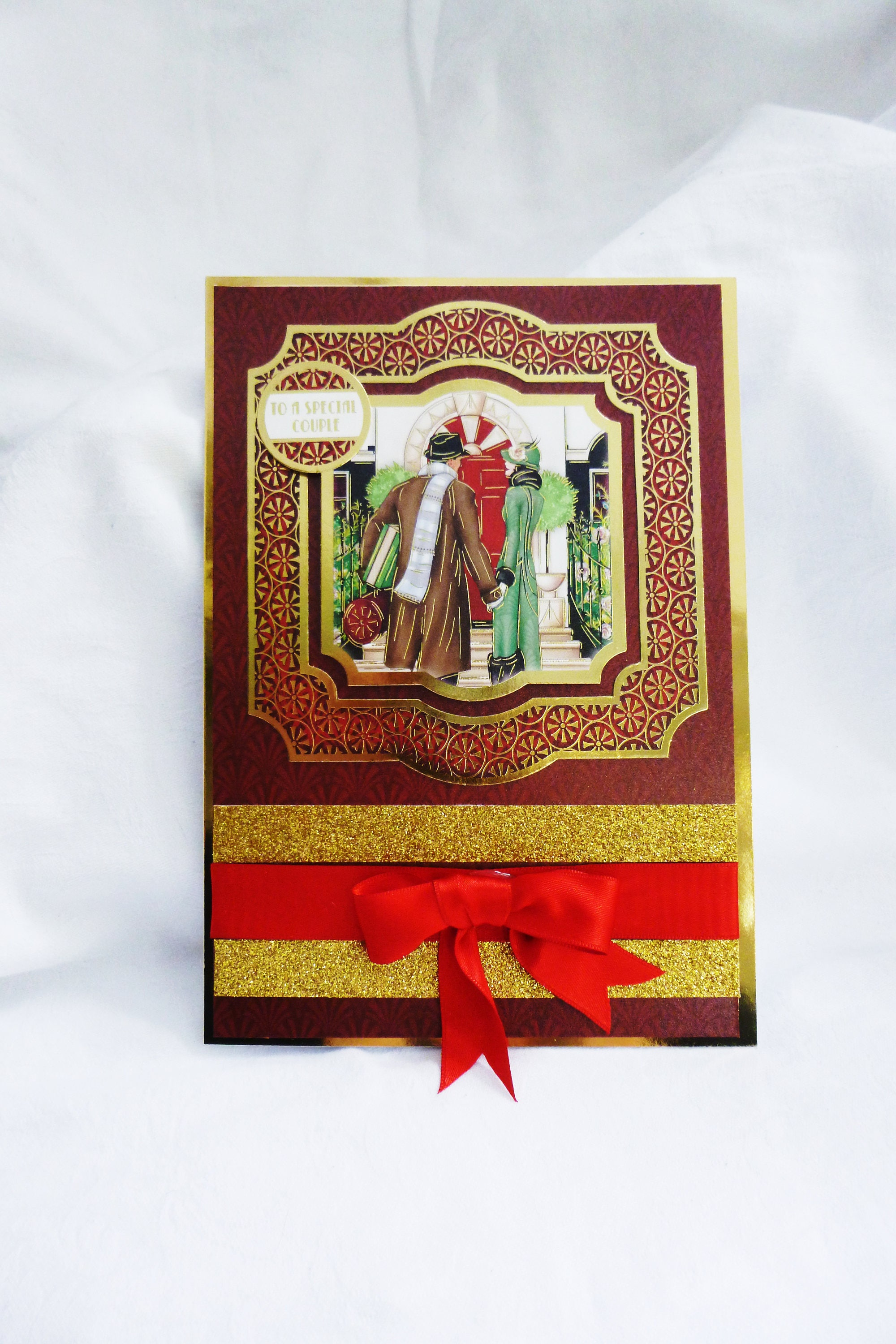 Art Deco Christmas Greeting Card, Christmas Wedding Card ...