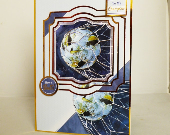 Sports Card, Football Card, Best Wishes Card, Football Fan, Special Birthday, Especially For You, Have A Ball, Handmade In The UK
