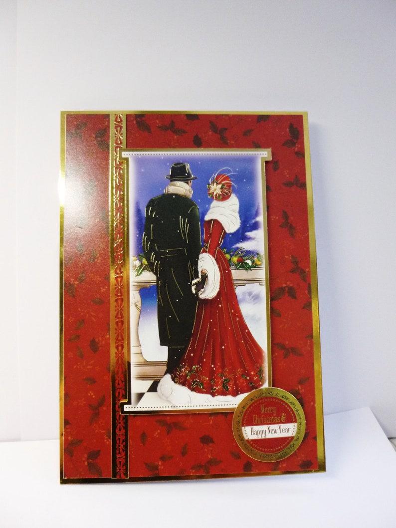 Art Deco Christmas Card Festive Card Merry Christmas Card Etsy