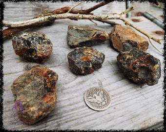 RAW BLACK AMBER Crystal | Large | Crystal Grid | Gemstone  | Necklace | Tumblestone | Sacred Geometry | Psychic | Crystal Healing