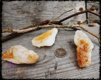 RAW CITRINE CRYSTAL | Large | Crystal Grid | Gemstone  | Necklace | Jewelry Supplies | Sacred Geometry | Psychic | Crystal Healing