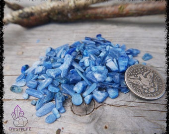 BLUE KYANITE CHIPS 100 Carats | Raw 5 - 15mm | Crystal Grid | Gemstone Ring | Necklace | Jewelry Supplies | Sacred Geometry | Psychic